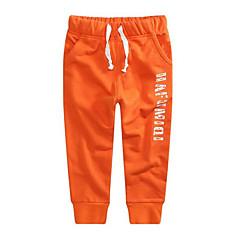 billige Drengebukser-Børn Drenge Ensfarvet Bomuld Bukser