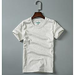 billige Jenteklær-Jente T-skjorte Ensfarget Bomull Sommer Kortermet Enkel Grønn Hvit Svart Mørkegrå Lyseblå
