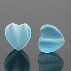baratos Miçangas & Fabricação de Bijuterias-Jóias DIY 10 pçs Contas Resina Roxo Rosa cor de Rosa Verde Azul Azul Claro Coração Bead 0.8 cm faça você mesmo Colar Pulseiras