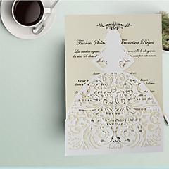 abordables Invitations de Mariage-Plis Fenêtre Invitations de mariage 50pcs - Cartes d'invitation Echantillons d'invitation Cartons d'Invitation Pour 'Baptême' Cartons
