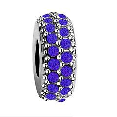 baratos Miçangas & Fabricação de Bijuterias-Jóias DIY 1 pçs Contas Imitações de Diamante Liga Branco Azul Escuro Vermelho Redonda Bead 0.5 cm faça você mesmo Colar Pulseiras