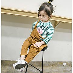 billige Babyunderdele-Baby Pige Normal Daglig Ensfarvet Uden ærmer Bomuld Overall og jumpsuit Brun
