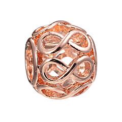 billige Perler og smykkemaking-DIY Smykker 10 stk Perler Legering Gull Svart Sølv Ball Perlene 0.45 cm DIY Halskjeder Armbånd