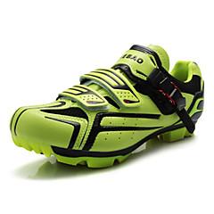 billige Sykkelsko-Tiebao® Mountain Bike-sko Sykkelsko Herre Anti-Skli Demping Ventilasjon Innvirkning Vanntett Pustende Slitasje-sikker Fjellsykkel Vei