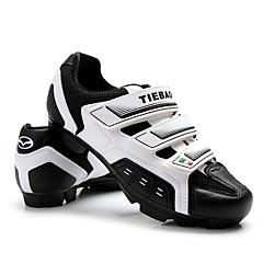 billige Sykkelsko-Tiebao® Mountain Bike-sko Sykkelsko Voksne Anti-Skli Pustende Fjellsykkel utendørs PVC Lær ånd bare Blanding Sykling / Sykkel