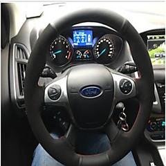 billige Rattovertrekk til bilen-bilstøttehjuldeksler (plysj skinn) til universalford General Motors Mondeo Kuga kant