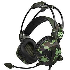 billiga Headsets och hörlurar-SADES SA-917 Headband Kabel Hörlurar Dynamisk Plast Spel Hörlur mikrofon headset