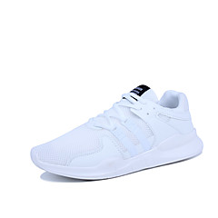 Homens Couro Ecológico Primavera / Outono Conforto / botas de desleixo Tênis Antiderrapante Branco / Preto / Branco / Preto