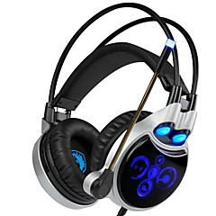 billiga Headsets och hörlurar-SADES R8 Headband Kabel Hörlurar Dynamisk Plast Spel Hörlur mikrofon headset