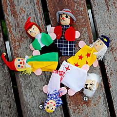 Χαμηλού Κόστους Μαριονέτες-Μαριονέτες δακτύλου Μαριονέτες Παιχνίδια ρόλων Εκπαιδευτικό παιχνίδι Παιχνίδια Χαριτωμένο Lovely Χνουδωτό Κοριτσίστικα Παιδικά Δώρο 6pcs