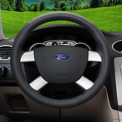 billige Rattovertrekk til bilen-Rattovertrekk til bilen ekte lær 38 cm Blå / Svart / Rød For Ford Focus / Escort / Mondeo Alle år