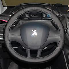 billige Rattovertrekk til bilen-Rattovertrekk til bilen 38 cm Svart For Peugeot 308 / 2008 / 308S Alle år