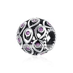 billige Perler og smykkemaking-DIY Smykker 1 stk Perler Sølv Lilla Blå Ball Perlene 1.1 cm DIY Halskjeder Armbånd