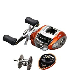 cheap Fishing Reels-Fishing Reel Baitcasting Reels 6.2:1 Gear Ratio+12 Ball Bearings Left-handed Right-handed Bait Casting - LV200
