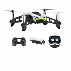 billiga Drönare och radiostyrda enheter-RC Drönare SKMEI Mambo FPV 4 Kanaler 3 Axel Bluetooth Med HD-kamera 0.3MP Radiostyrd quadcopter FPV / Med kamera Laddningskabel