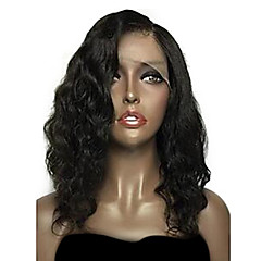 cheap Wigs & Hair Pieces-Remy Human Hair Lace Front Wig Brazilian Hair Wavy Natural Wave Natural Black Wig Bob Short Bob Deep Parting 150% Density 8-26 inch with Baby Hair Natural Hairline Unprocessed Pre-Plucked Natural