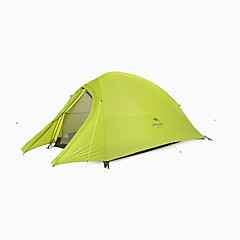 billige Telt og ly-Naturehike 1 person Dobbelt camping Tent Ett Rom Turtelt Fort Tørring Vindtett Regn-sikker til Camping & Fjellvandring >3000 mm silica