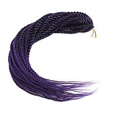 お買い得  ブレーズヘア-ブレイズヘア セネガルツイスト かぎ針編みの髪編み 合成 30ルーツ / パック, 1パック 髪の三つ編み 22inch(56cm) / 各パックには1個のピースが含まれています.ワンピースには30のルーツがあります.通常、フルヘッドの場合、5〜6枚で十分です.