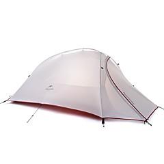billige Telt og ly-Naturehike 3-4 personer Dobbelt camping Tent Ett Rom Turtelt Fort Tørring Vindtett Regn-sikker til >3000 mm silica Gel Oxfordstoff -