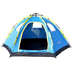 billige Telt og ly-5-7 personer Telt Utendørs Vanntett, Regn-sikker, Fukt-sikker Med enkelt lag camping Tent 1000-1500 mm til Vandring Camping Reise Glassfiber, Oxford 305*240*145 cm