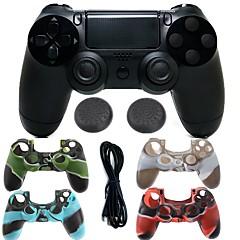 tanie PS4: akcesoria-Bezprzewodowy kontroler gier bluetooth kontroler gamepad joystick gamepady z silikonowym etui na ps4