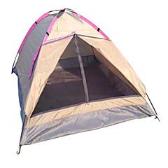 billige Telt og ly-LANGYA 2 personer Turtelt Enkelt Stang Kuppel camping Tent Utendørs Fort Tørring, Pusteevne til Camping polyester