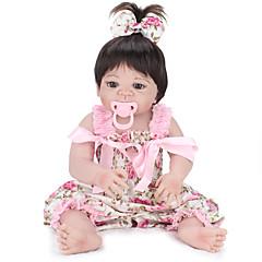 billiga Leksaker och spel-NPK DOLL Reborn-dockor Spädbarn 22 tum Full Body Silicone / Silikon / Vinyl - levande, Hand Applied Eyelashes, Tippade och förseglade naglar Unge Present / CE / Naturlig hudton / Floppy Head