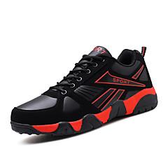 preiswerte Schuhe Ausverkauf-Herrn Schuhe Tüll Herbst Sneakers Basketball Schnürsenkel für Normal Schwarz/Rot Schwarz und Blau Schwarz/Gelb