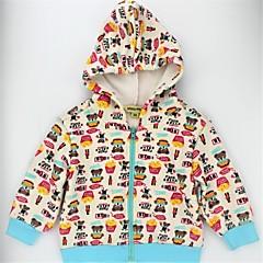 billige Hættetrøjer og sweatshirts til piger-Spædbarn Unisex Afslappet / Aktiv / Basale Farveblok / Dyr Trykt mønster Langærmet Imiteret pels / Bomuld Hættetrøje og sweatshirt