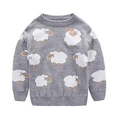 billige Sweaters og cardigans til piger-Baby Unisex Aktiv Daglig / Ferie Dyr Dyre Mønster Langærmet Normal Bomuld Trøje og cardigan Lyserød