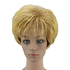 cheap Wigs & Hair Pieces-Synthetic Wig Women's Curly Blonde Layered Haircut Synthetic Hair Natural Hairline Blonde Wig Short Capless Black / Gold hairjoy