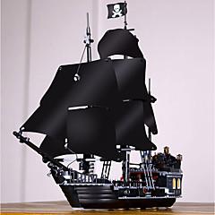 baratos -Black Pearl Blocos de Construir 804 pcs Piratas / Navio pirata Requintado Estilo vintage Dom