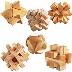 cheap -ULT-unite3D Wooden Cube Wooden Puzzle Focus Toy Stress and Anxiety Relief Wooden 6pcs Kid's Adults' Gift