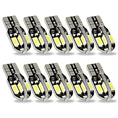 billige Interiørlamper til bil-SENCART 10pcs T10 Bil Elpærer 3 W SMD 5630 240 lm 8 LED interiør Lights Til General motors Alle år