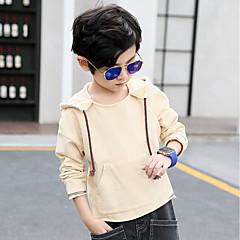 billige Hættetrøjer og sweatshirts til drenge-Drenge Hættetrøje og sweatshirt Ensfarvet Galakse, Bomuld Forår Simple Orange Beige