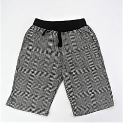 baratos Roupas de Meninos-Para Meninos Calças Diário Listrado Estampa Colorida Verão Algodão Simples Casual Cinzento Escuro