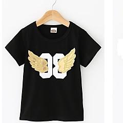 billige Overdele til drenge-Baby Drenge Aktiv Daglig Trykt mønster Trykt mønster Kortærmet Normal Bomuld T-shirt Hvid
