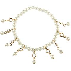 billige Kropssmykker-Imitert Perle Ankel - Dame Gull / Sølv Mote Geometrisk Form Ankel Til Daglig