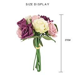 billige Kunstige blomster-Kunstige blomster 9 Gren Rustikk Bryllupsblomster Roser Bordblomst