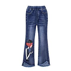 billige Bukser og leggings til piger-Børn Pige Simple / Afslappet Ferie Ensfarvet / Trykt mønster Uden ærmer Bomuld Jeans