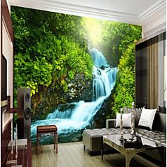 billige Tapet-3d grønn fjell foss stort veggdekorasjon veggmaleri tapet passer soverom restaurant landskap