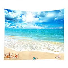 tanie Dekoracje ścienne-Motyw plażowy / Motyw morski Dekoracja ścienna 100% poliester Nowoczesny Wall Art, Ścienne Gobeliny Dekoracja