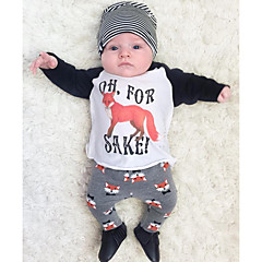 billige Pigetoppe-Baby Unisex Dyr Bomuld T-shirt Sort