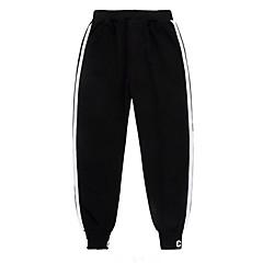 billige Bukser og leggings til piger-Børn Unisex Simple / Afslappet Daglig / Sport Ensfarvet / Stribet Uden ærmer Bomuld / Polyester Bukser Sort
