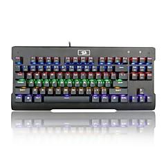 billiga Keyboards-REDRAGON K561RGB Kabel RGB bakgrundsbelysning blå Switches 87 ergonomiskt tangentbord Gaming Keyboard Bärbar Bekväm bakgrundsbelyst