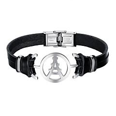 billige -Herre Armbånd Fritid Kul Lær Legering Uregelmessig Smykker Daglig Stevnemøte Kostyme smykker