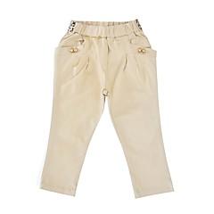 billige Bukser og leggings til piger-Baby Pige Aktiv Daglig / Ferie Ensfarvet Sløjfer / Leopard Print Langærmet Bomuld / Polyester Bukser Brun 100