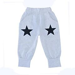 billige Bukser og leggings til piger-Unisex Bukser Daglig Ferie Geometrisk, Bomuld Polyester Forår Efterår Langærmet Simple Grå