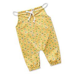 billige Babytøj-Baby Pige Simple / Afslappet Daglig / I-byen-tøj Blomstret Stilfuldt / Tynd Uden ærmer Bomuld / Polyester Overall og jumpsuit Gul