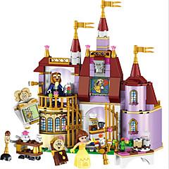 baratos -LELE Educational Building Blocks Toys For Children Gifts Castle Girls Friends Princess Prince Mermaid Beauty Beast Snow Elsa Anna Blocos de Construir 379 pcs Tema Flores / Tema Fadas / Arquitetura